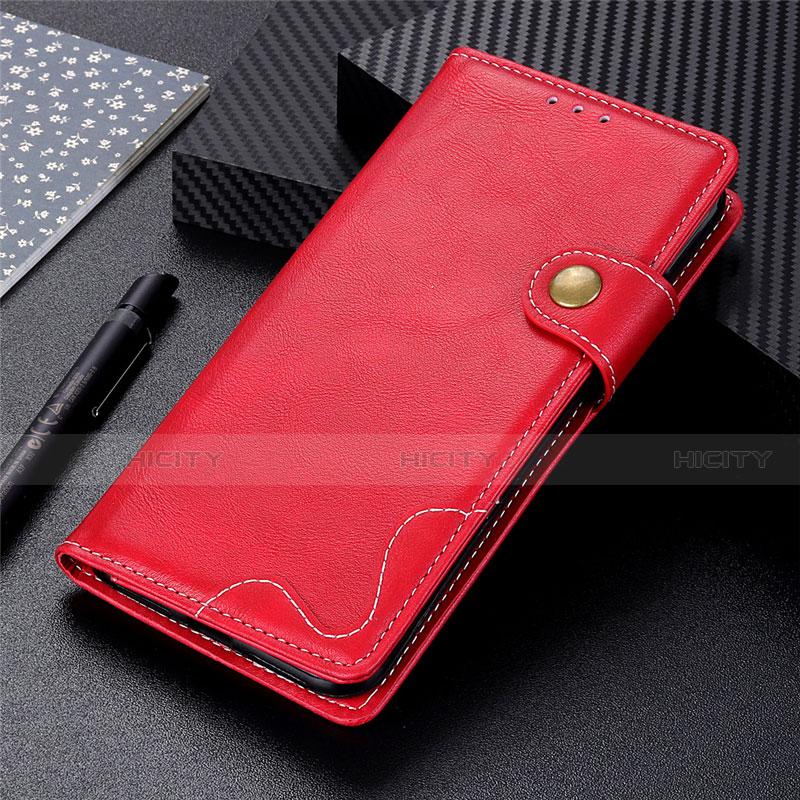 Coque Portefeuille Livre Cuir Etui Clapet pour Motorola Moto G9 Plus Rouge Plus