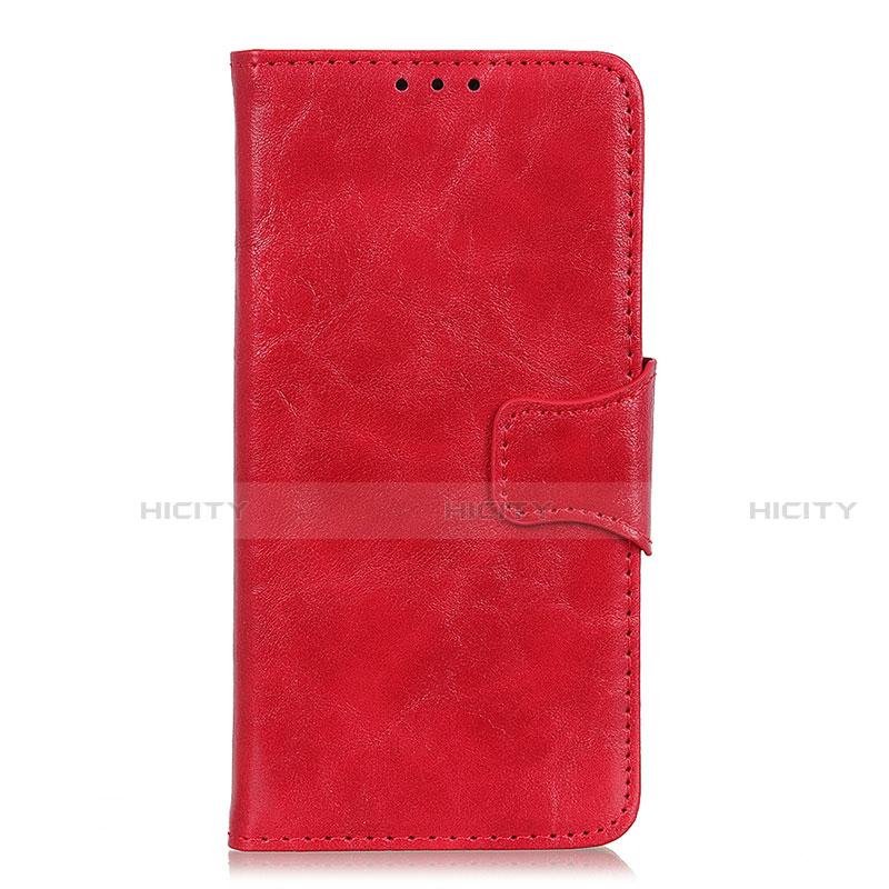 Coque Portefeuille Livre Cuir Etui Clapet pour Oppo Reno3 A Rouge Plus