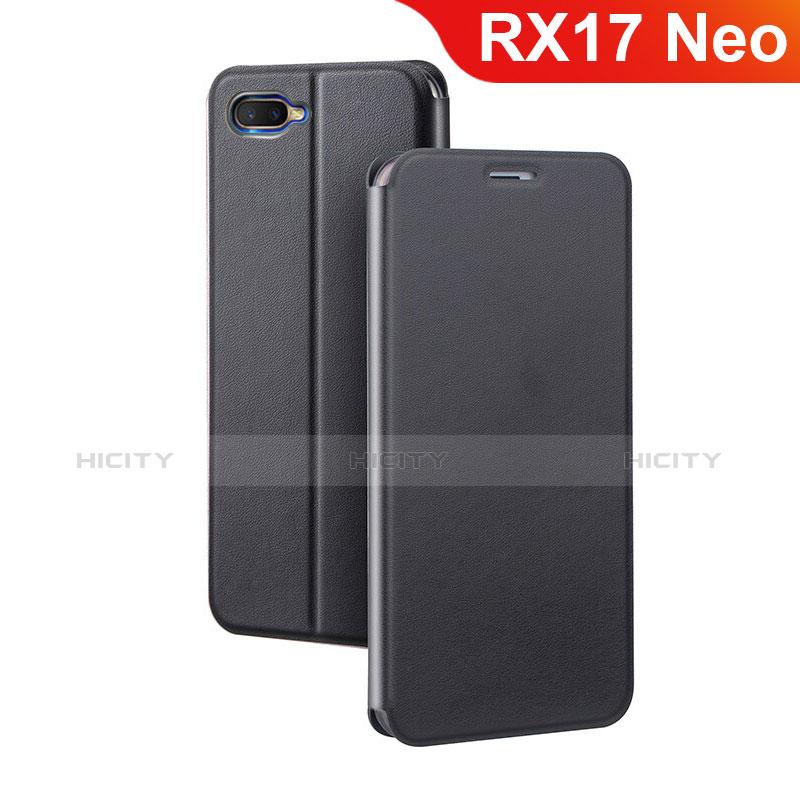 Coque Portefeuille Livre Cuir Etui Clapet pour Oppo RX17 Neo Noir Plus