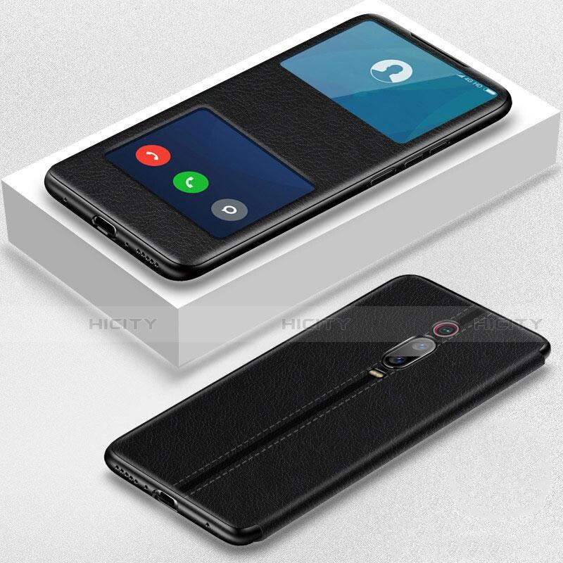 Coque Portefeuille Livre Cuir Etui Clapet T02 pour Xiaomi Mi 9T Pro Noir Plus