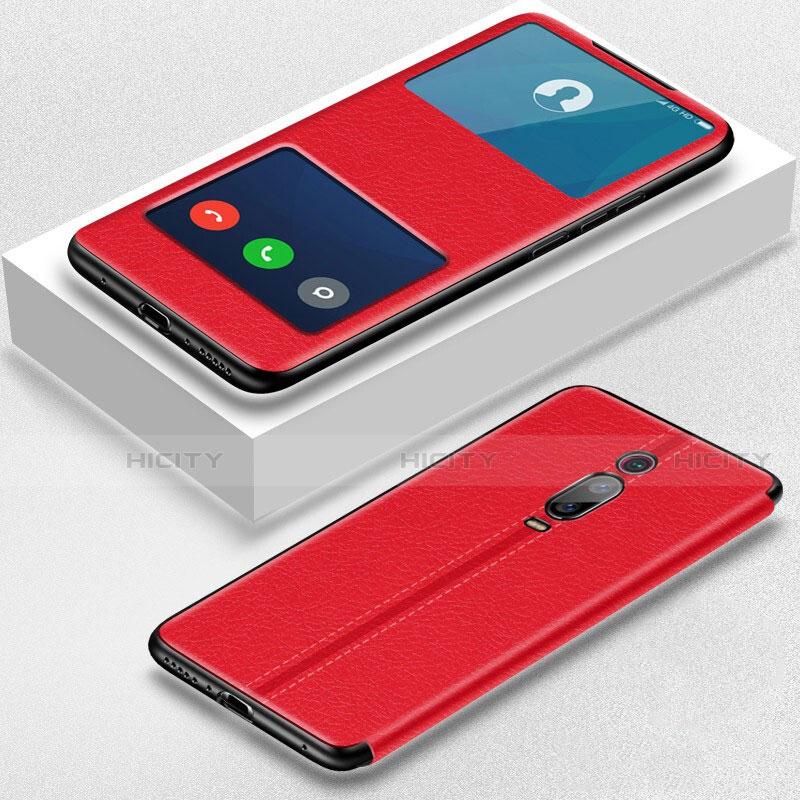 Coque Portefeuille Livre Cuir Etui Clapet T02 pour Xiaomi Mi 9T Pro Rouge Plus