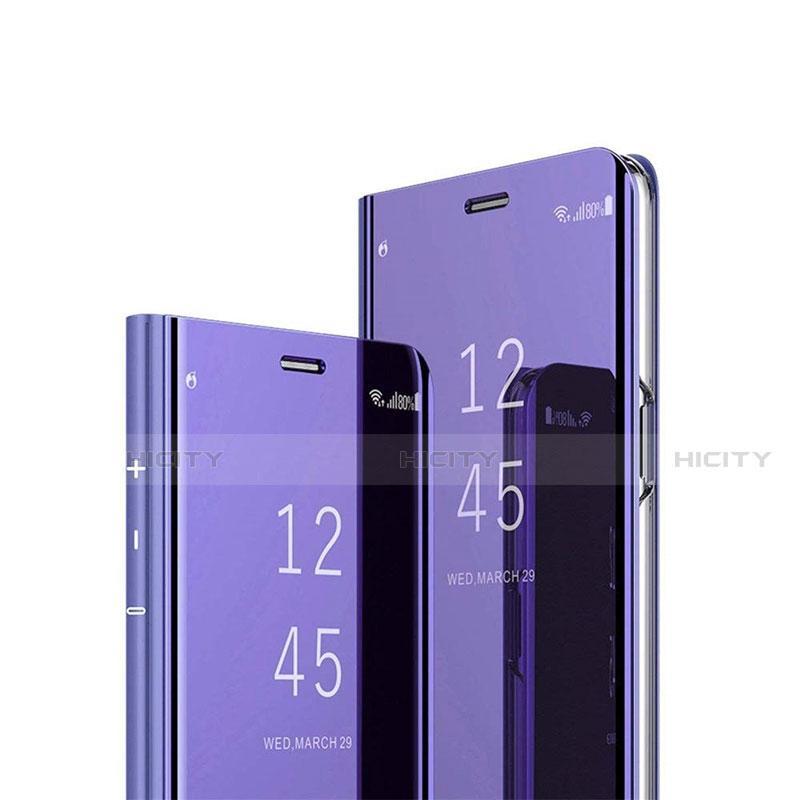 Coque Portefeuille Livre Cuir Miroir Housse Etui Clapet L02 pour Xiaomi Mi 10 Ultra Violet Plus