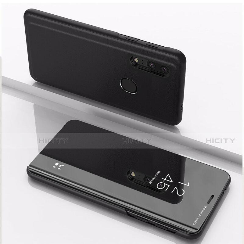 Coque Portefeuille Livre Cuir Miroir Housse Etui Clapet pour Huawei Honor 20 Lite Noir Plus
