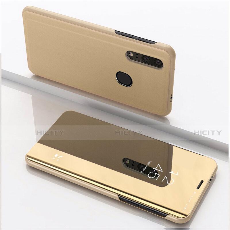 Coque Portefeuille Livre Cuir Miroir Housse Etui Clapet pour Huawei Honor 20 Lite Or Plus