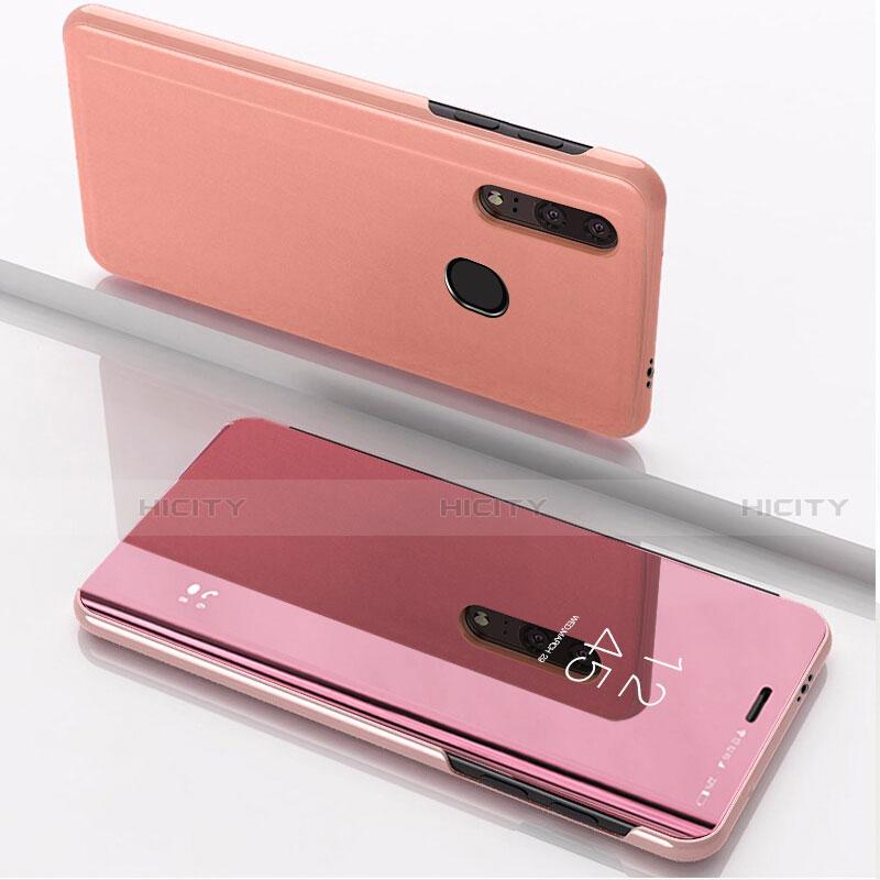 Coque Portefeuille Livre Cuir Miroir Housse Etui Clapet pour Huawei Honor 20 Lite Or Rose Plus
