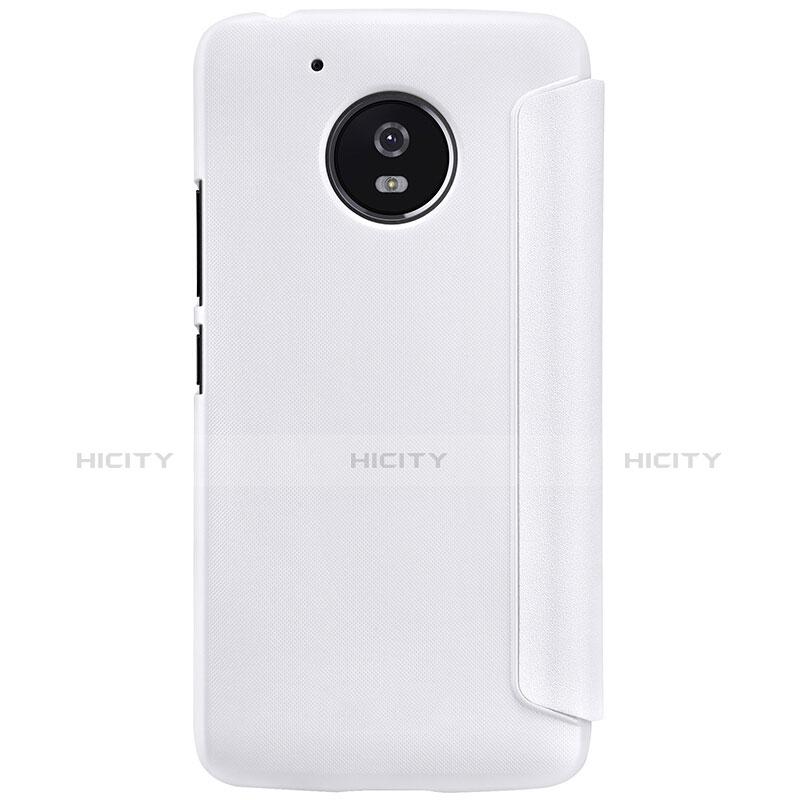Coque Portefeuille Livre Cuir pour Motorola Moto G5 Blanc Plus