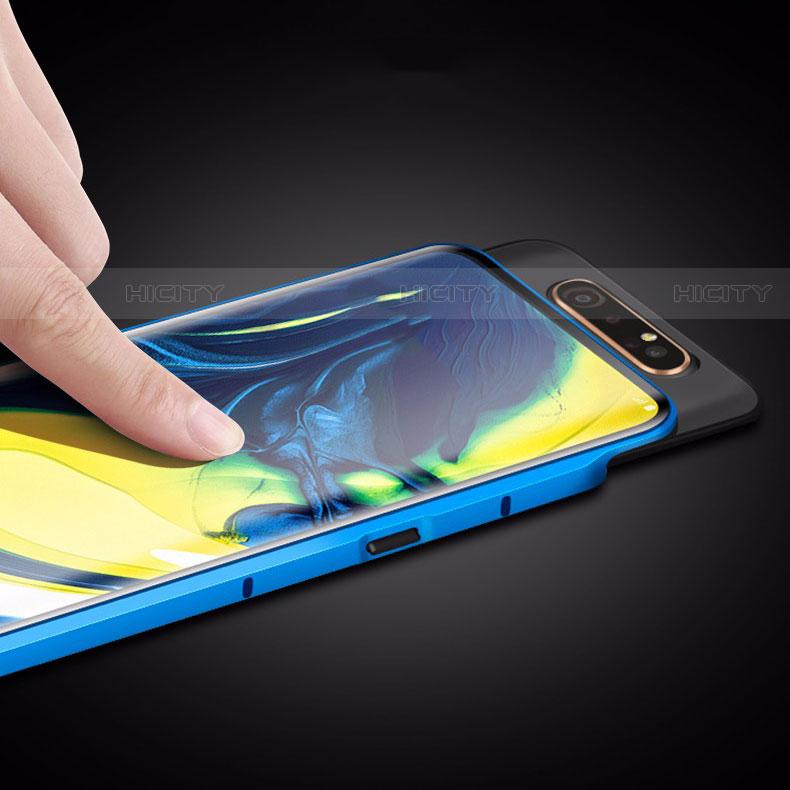Coque Rebord Bumper Luxe Aluminum Metal Miroir 360 Degres Housse Etui Aimant M01 pour Samsung Galaxy A80 Plus