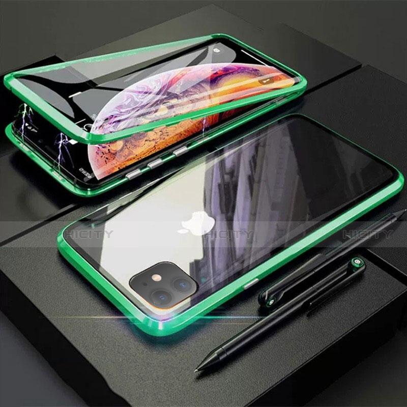 Coque Rebord Bumper Luxe Aluminum Metal Miroir 360 Degres Housse Etui Aimant M03 pour Apple iPhone 11 Plus