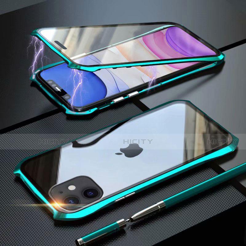 Coque Rebord Bumper Luxe Aluminum Metal Miroir 360 Degres Housse Etui Aimant M06 pour Apple iPhone 11 Plus