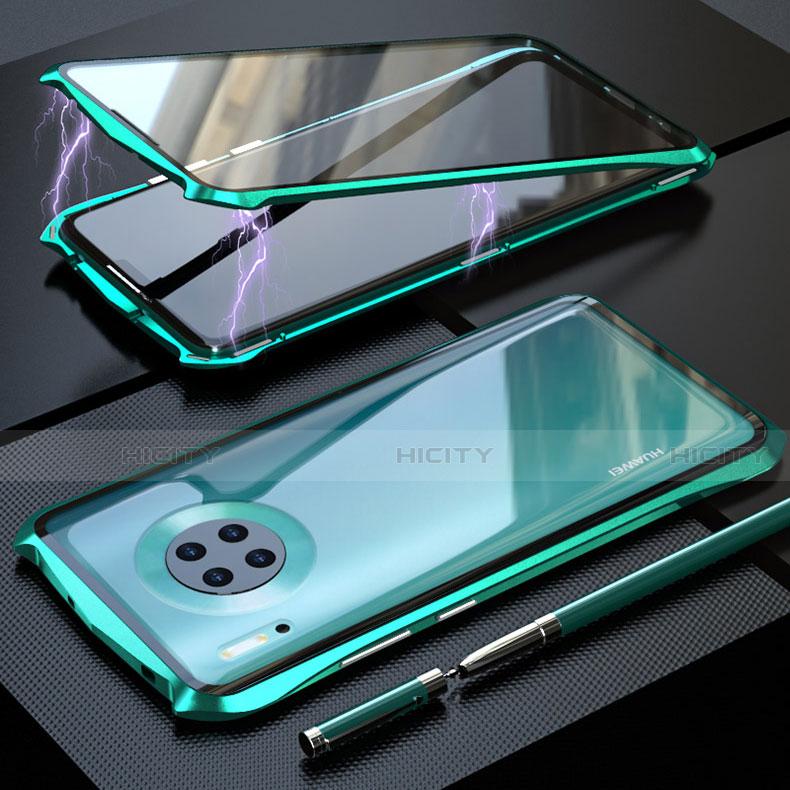 Coque Rebord Bumper Luxe Aluminum Metal Miroir 360 Degres Housse Etui Aimant M08 pour Huawei Mate 30 5G Plus