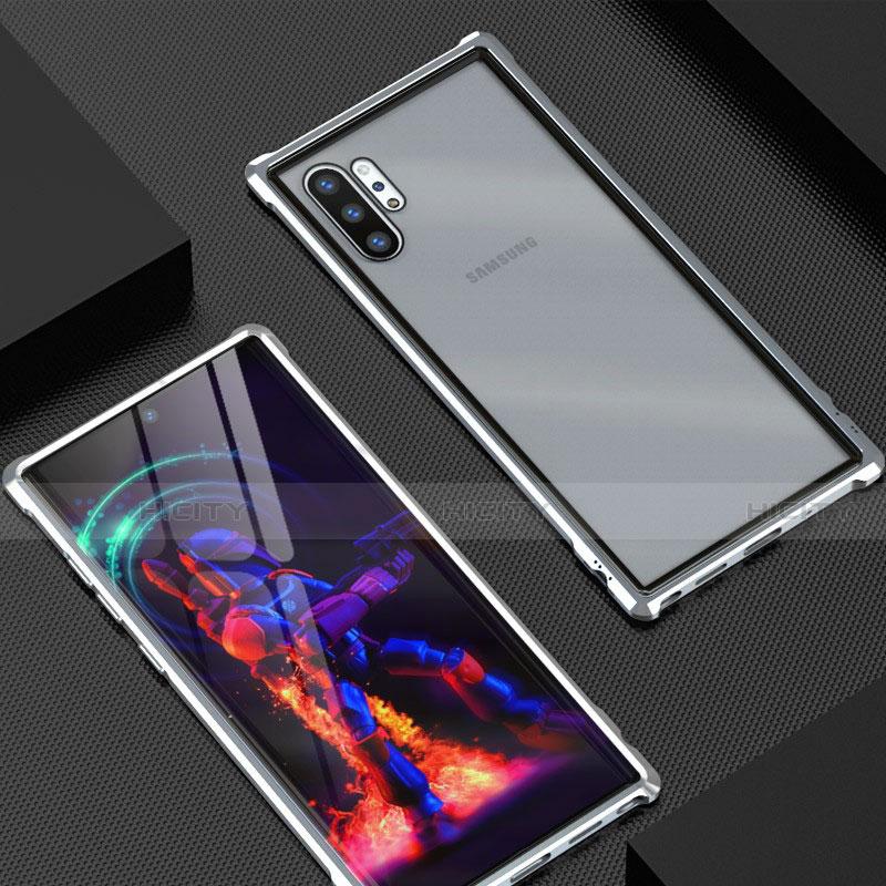 Coque Rebord Bumper Luxe Aluminum Metal Miroir 360 Degres Housse Etui G01 pour Samsung Galaxy Note 10 Plus 5G Plus