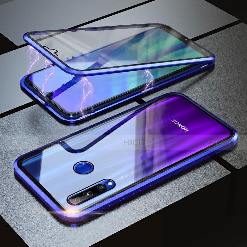 Coque Rebord Bumper Luxe Aluminum Metal Miroir 360 Degres Housse Etui pour Huawei Honor 20 Lite Bleu Plus