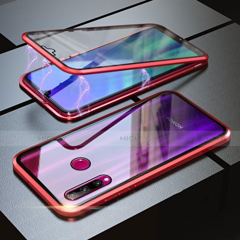 Coque Rebord Bumper Luxe Aluminum Metal Miroir 360 Degres Housse Etui pour Huawei Honor 20 Lite Rouge Plus