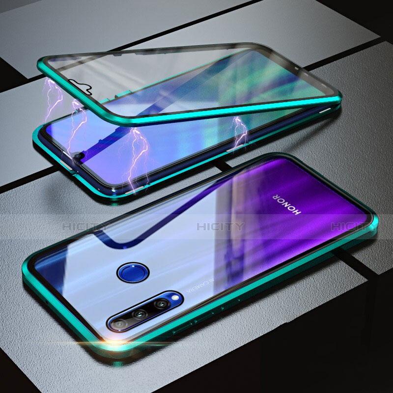 Coque Rebord Bumper Luxe Aluminum Metal Miroir 360 Degres Housse Etui pour Huawei Honor 20 Lite Vert Plus