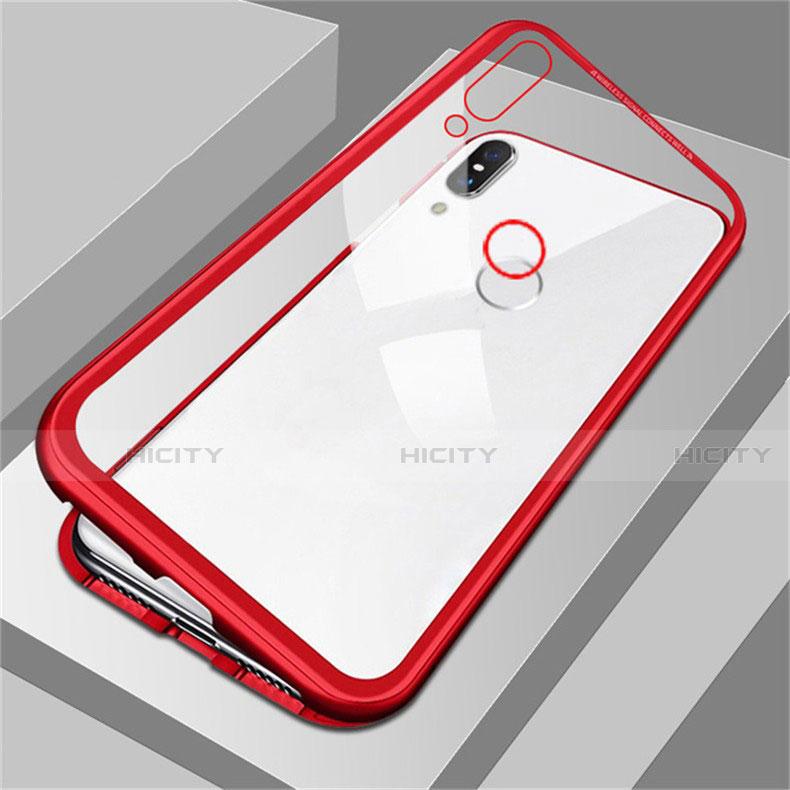 Coque Rebord Bumper Luxe Aluminum Metal Miroir Housse Etui pour Huawei Honor 8X Rouge Plus