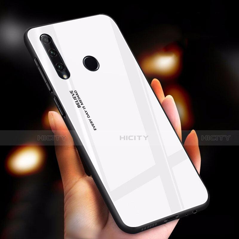 Coque Rebord Contour Silicone et Vitre Miroir Housse Etui Degrade Arc en Ciel pour Huawei Honor 20 Lite Blanc Plus