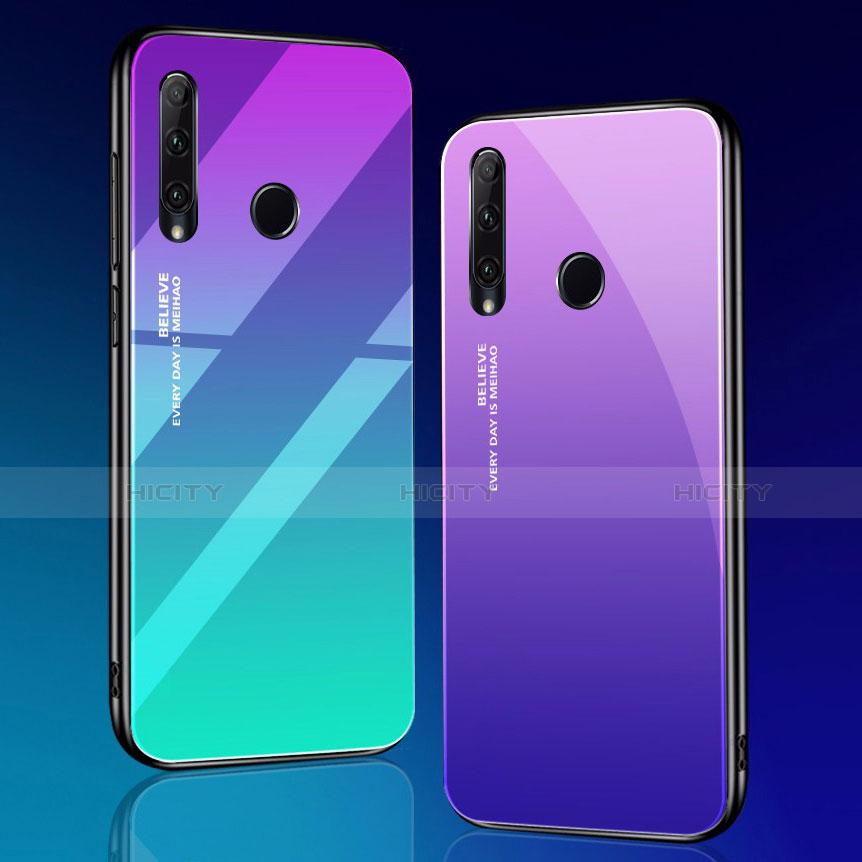 Coque Rebord Contour Silicone et Vitre Miroir Housse Etui Degrade Arc en Ciel pour Huawei Honor 20 Lite Plus