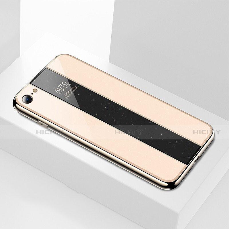 coque rebord contour silicone et vitre miroir housse etui m01 pour apple iphone 8 plus 4