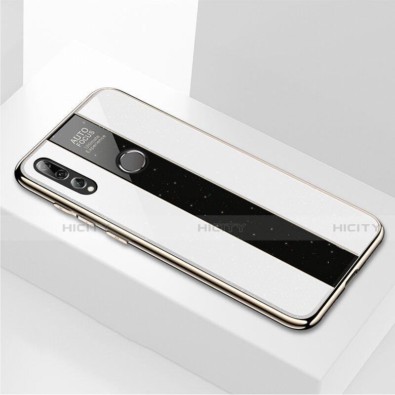 Coque Rebord Contour Silicone et Vitre Miroir Housse Etui M02 pour Huawei Honor 20 Lite Blanc Plus