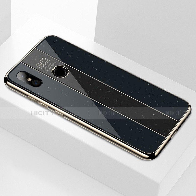 Coque Rebord Contour Silicone et Vitre Miroir Housse Etui M02 pour Xiaomi Mi A2 Plus