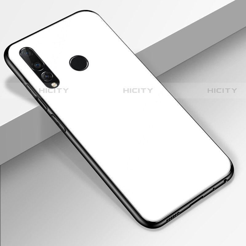 Coque Rebord Contour Silicone et Vitre Miroir Housse Etui pour Huawei Honor 20 Lite Blanc Plus