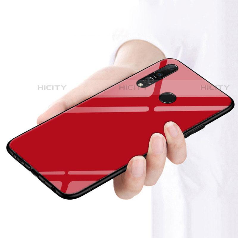 Coque Rebord Contour Silicone et Vitre Miroir Housse Etui pour Huawei Honor 20 Lite Plus