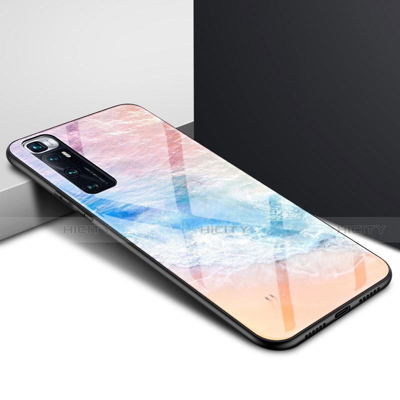 Coque Rebord Contour Silicone et Vitre Miroir Housse Etui pour Xiaomi Mi 10 Ultra Colorful Plus