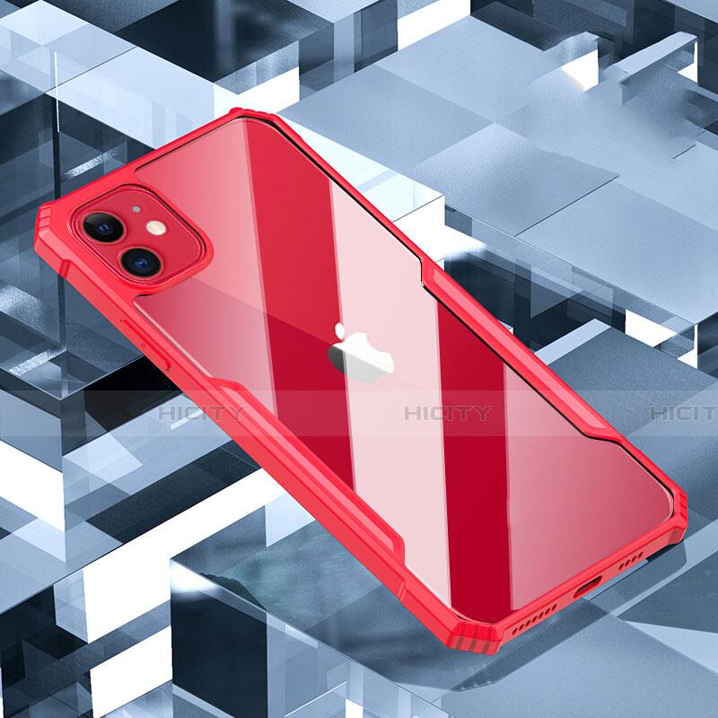 Coque Rebord Contour Silicone et Vitre Transparente Miroir Housse Etui H01 pour Apple iPhone 11 Plus