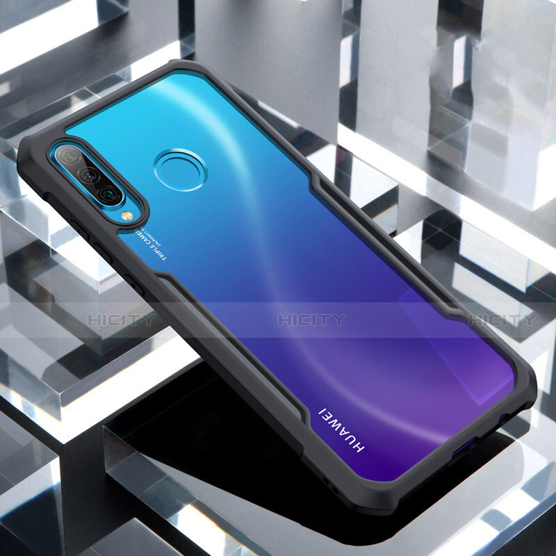 Coque Rebord Contour Silicone et Vitre Transparente Miroir Housse Etui H01 pour Huawei P30 Lite Plus
