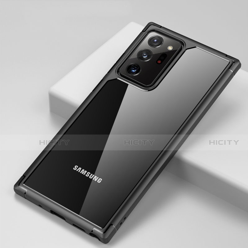 Coque Rebord Contour Silicone et Vitre Transparente Miroir Housse Etui H02 pour Samsung Galaxy Note 20 Ultra 5G Plus