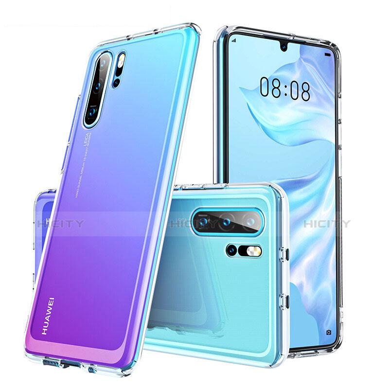 Coque Rebord Contour Silicone et Vitre Transparente Miroir Housse Etui M02 pour Huawei P30 Pro Clair Plus