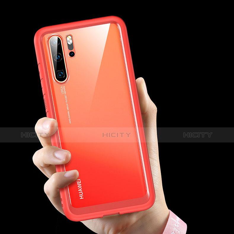 Coque Rebord Contour Silicone et Vitre Transparente Miroir Housse Etui M02 pour Huawei P30 Pro Plus