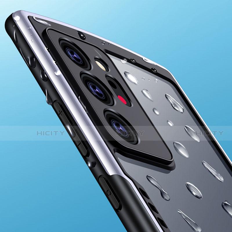 Coque Rebord Contour Silicone et Vitre Transparente Miroir Housse Etui M04 pour Samsung Galaxy Note 20 Ultra 5G Plus