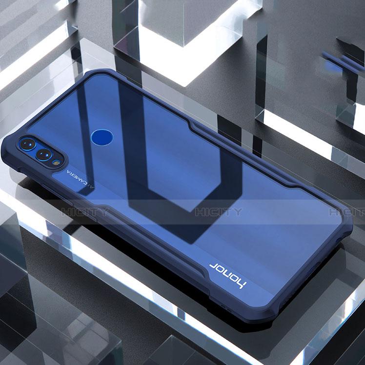 Coque Rebord Contour Silicone et Vitre Transparente Miroir Housse Etui pour Huawei Honor 8X Bleu Plus