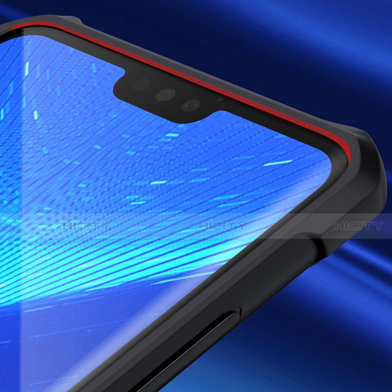 Coque Rebord Contour Silicone et Vitre Transparente Miroir Housse Etui pour Huawei Honor 8X Plus