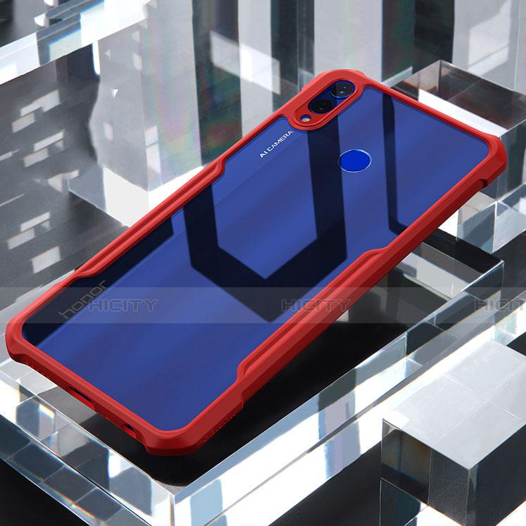 Coque Rebord Contour Silicone et Vitre Transparente Miroir Housse Etui pour Huawei Honor 8X Rouge Plus