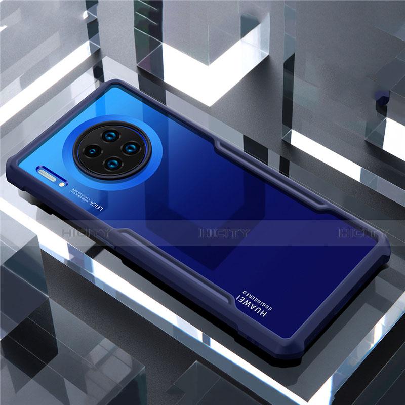 Coque Rebord Contour Silicone et Vitre Transparente Miroir Housse Etui pour Huawei Mate 30 Plus