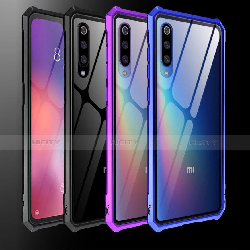 Coque Rebord Contour Silicone et Vitre Transparente Miroir Housse Etui pour Xiaomi Mi 9 Plus