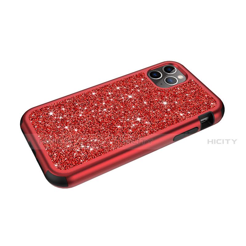 Coque Silicone et Plastique Housse Etui Protection Integrale 360 Degres Bling-Bling pour Apple iPhone 11 Pro Max Plus