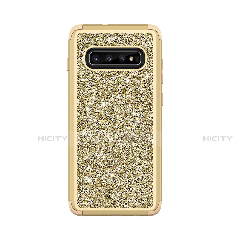 Coque Silicone et Plastique Housse Etui Protection Integrale 360 Degres Bling-Bling pour Samsung Galaxy S10 Plus Plus