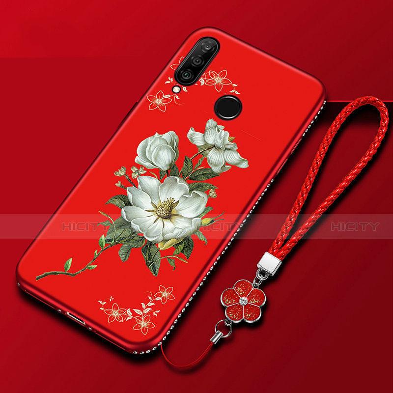 Coque Silicone Fleurs Souple Couleur Unie Etui Housse pour Huawei Honor 20 Lite Colorful Plus