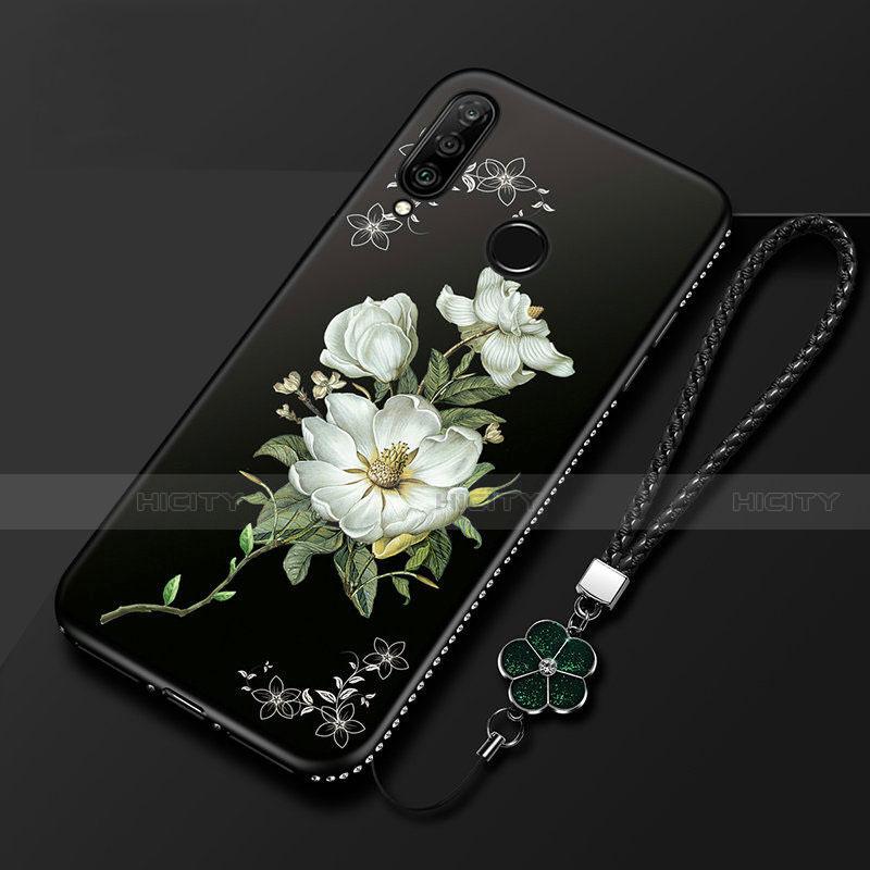 Coque Silicone Fleurs Souple Couleur Unie Etui Housse pour Huawei Honor 20 Lite Noir Plus