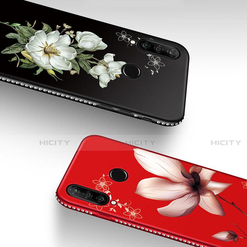 Coque Silicone Fleurs Souple Couleur Unie Etui Housse pour Huawei Honor 20 Lite Plus