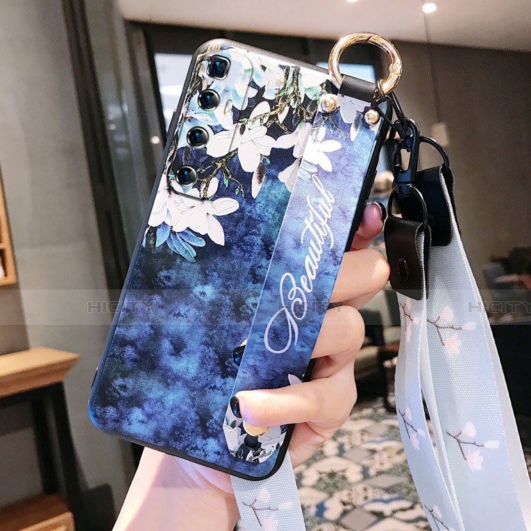 Coque Silicone Fleurs Souple Couleur Unie Etui Housse pour Xiaomi Mi 10 Ultra Bleu Royal Plus