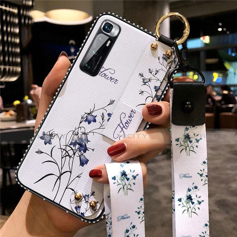 Coque Silicone Fleurs Souple Couleur Unie Etui Housse S01 pour Xiaomi Mi 10 Ultra Blanc Plus