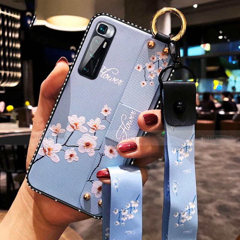 Coque Silicone Fleurs Souple Couleur Unie Etui Housse S01 pour Xiaomi Mi 10 Ultra Bleu Clair Plus