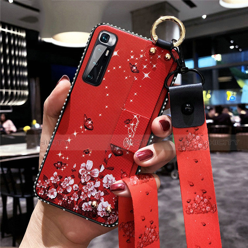 Coque Silicone Fleurs Souple Couleur Unie Etui Housse S01 pour Xiaomi Mi 10 Ultra Rouge Plus