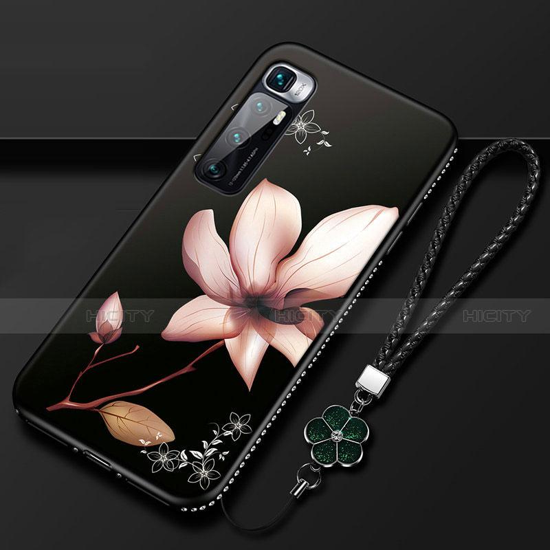 Coque Silicone Fleurs Souple Couleur Unie Etui Housse S03 pour Xiaomi Mi 10 Ultra Marron Plus