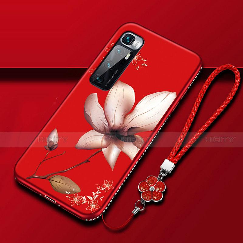 Coque Silicone Fleurs Souple Couleur Unie Etui Housse S03 pour Xiaomi Mi 10 Ultra Rose Plus