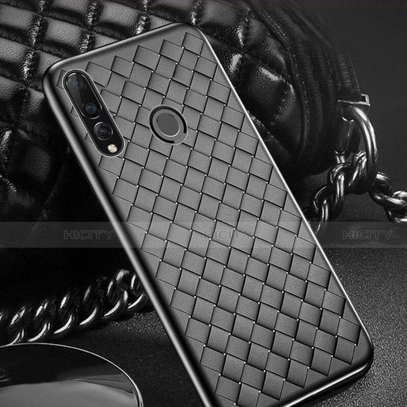 Coque Silicone Gel Motif Cuir Housse Etui A01 pour Huawei Honor 20 Lite Noir Plus